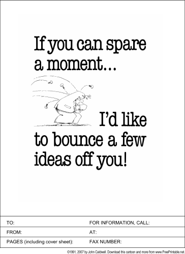 Bounce Ideas Off You fax cover sheet