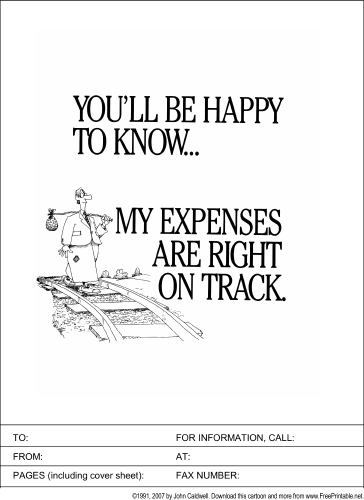Expense Report fax cover sheet
