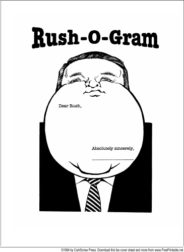 Rush Limbaugh fax cover sheet