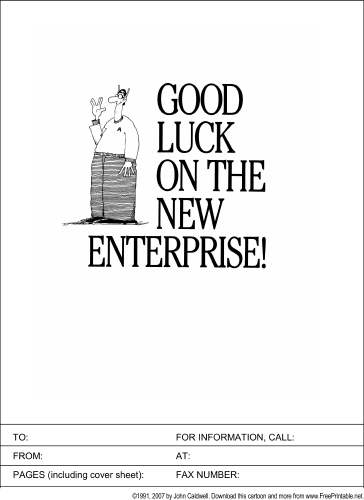 Good Luck on the New Enterprise fax cover sheet