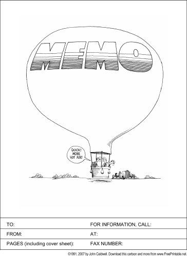 Hot Air Memo fax cover sheet