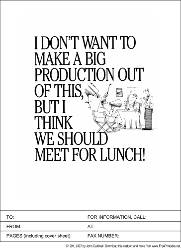 Let's Meet for Lunch fax cover sheet