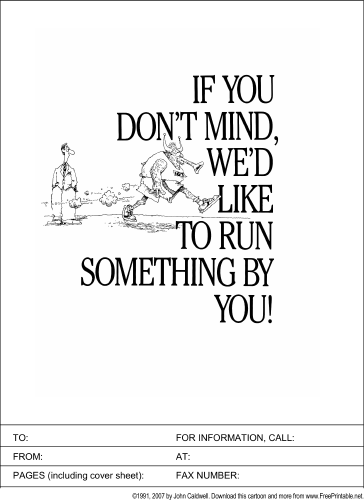 Something to Run by You fax cover sheet