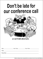 Conference Call Reminder