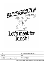 Emergency! Let's Meet for Lunch