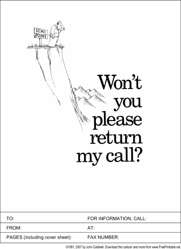 please return my call fax cover sheet Fax Cover Sheet Word Document