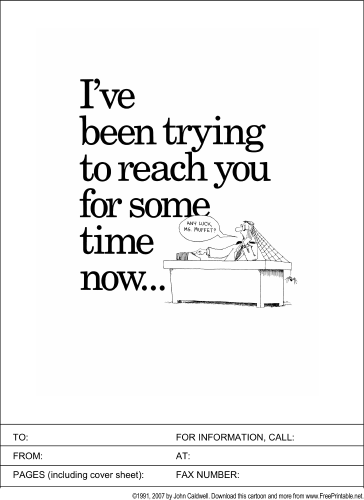 trying to reach you fax cover sheet